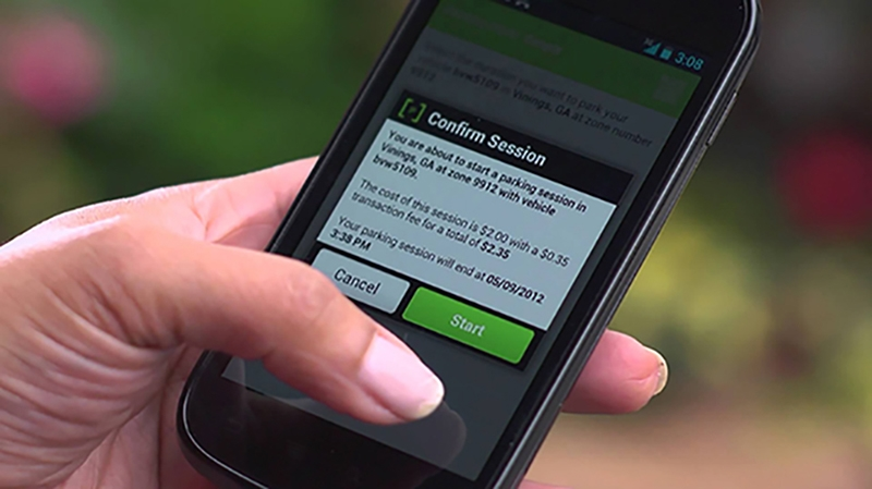 Pay by mobile is a modern and convenient payment method to pay at parking machines.