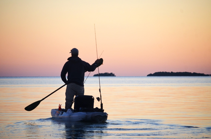 When fishing inshore, a kayak can be a leisurely and slower-paced option.