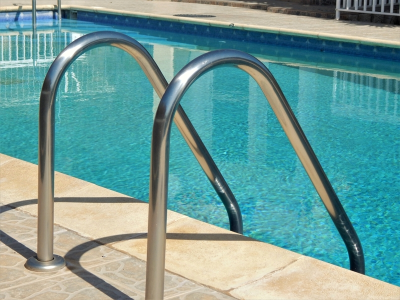 Sandstone pool coping should be carefully sealed to protect against salt.