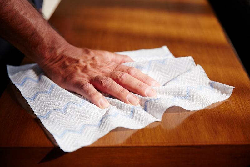Disposable microfibre kills and removes harmful bacteria.